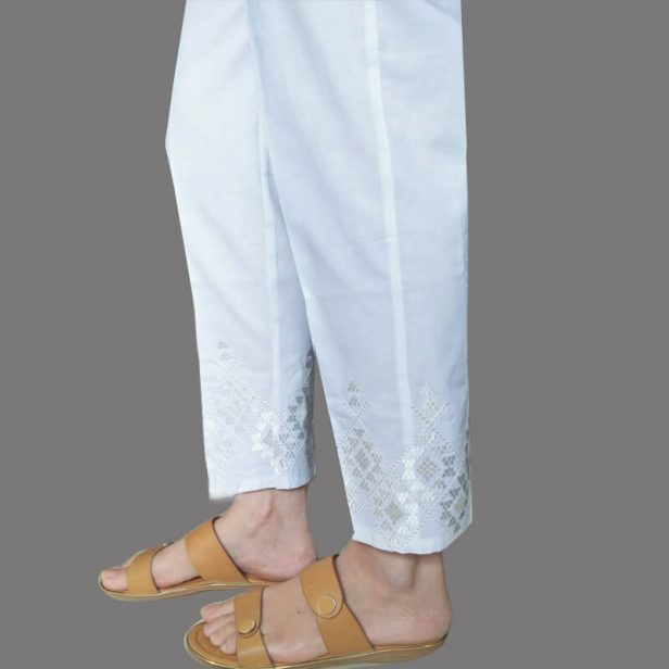 1-White-Embroided-Trouser-Pant-KT45